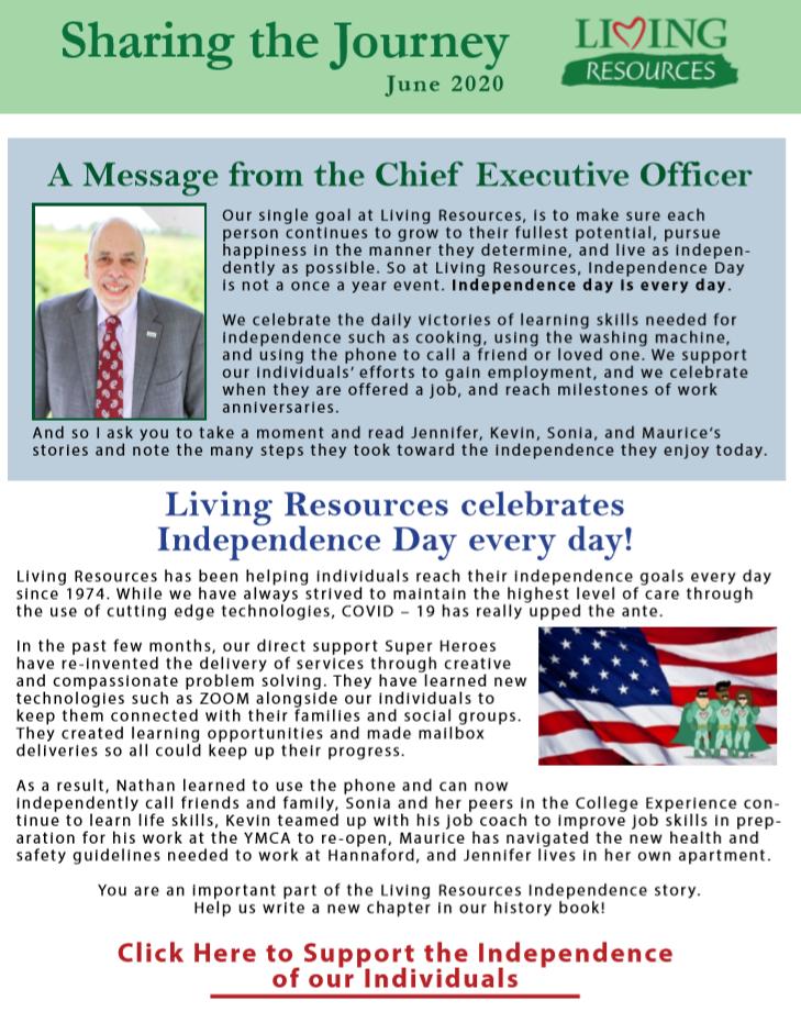 Sharing the Journey Newsletter June 2020