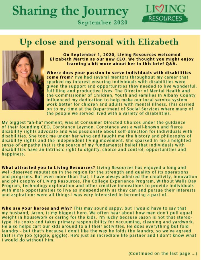 Sharing the Journey Newsletter September 2020