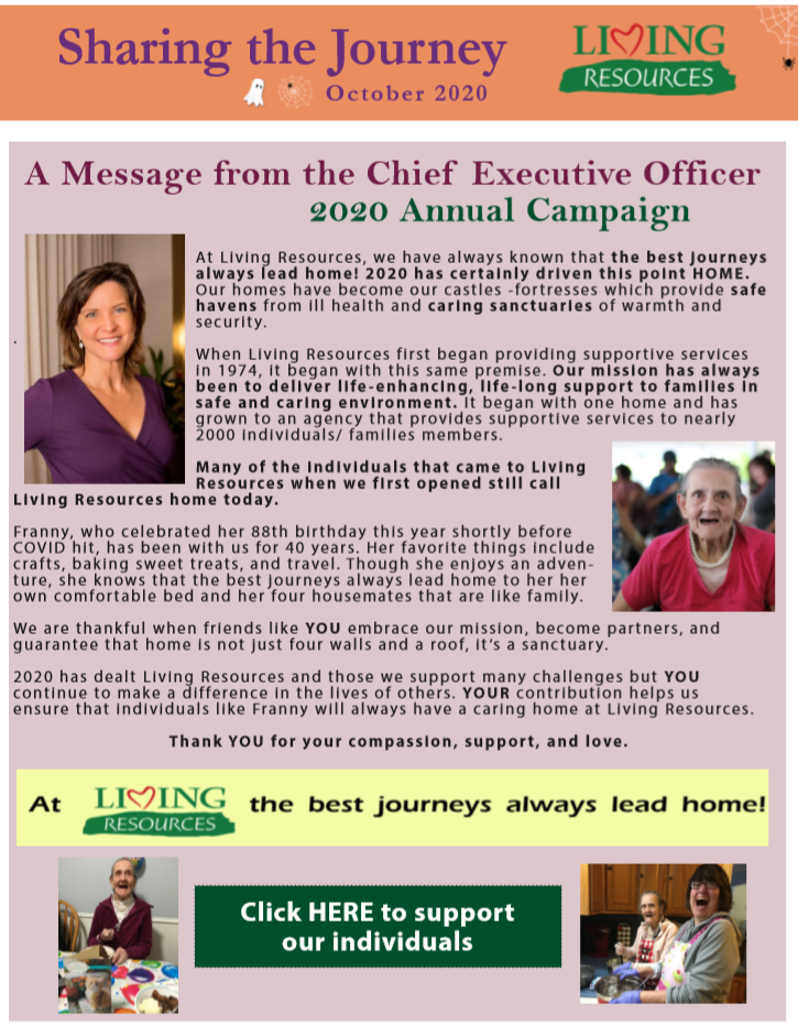 Sharing the Journey Newsletter October 2020