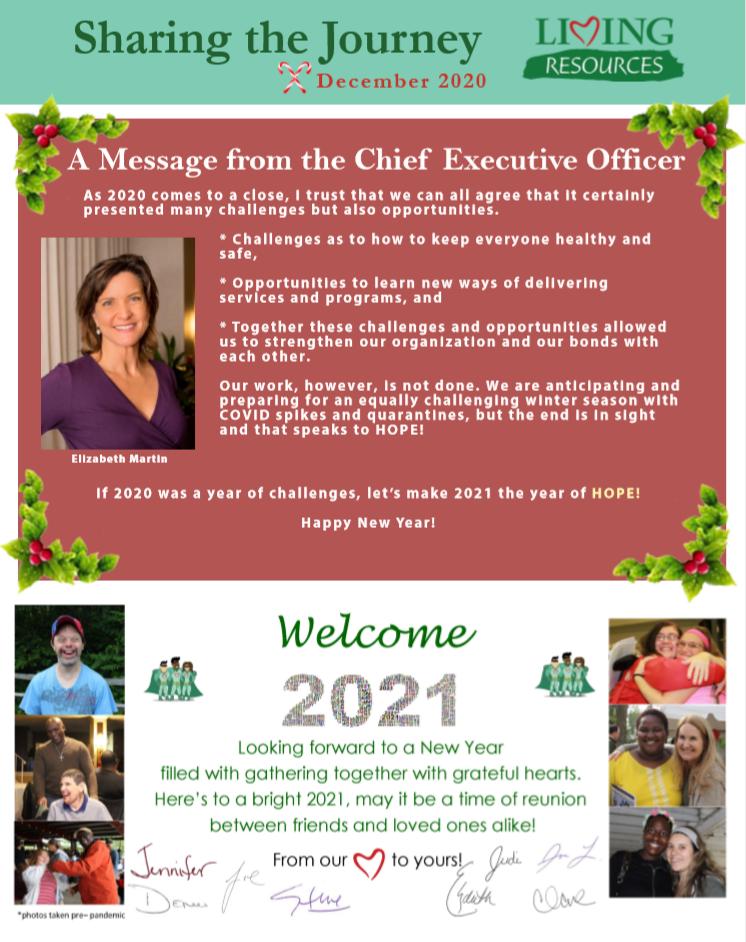 Sharing the Journey Newsletter December 2020