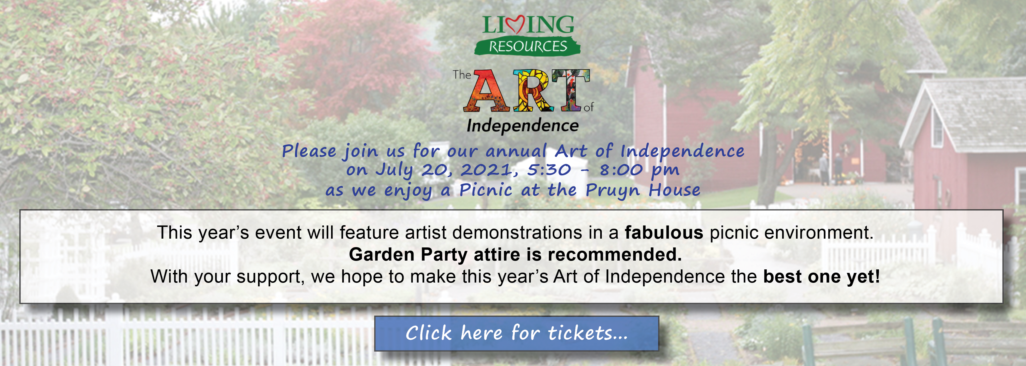 Living Resources' Art of Independence 2020